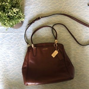Authentic Coach Minnie crossbody leather bag